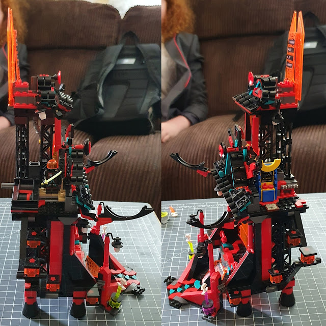 LEGO Ninjago Temple 71712 view from both sides together as a collage