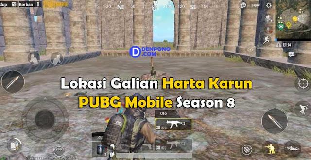 Inilah Lokasi Galian Harta Karun di PUBG Mobile Season 8