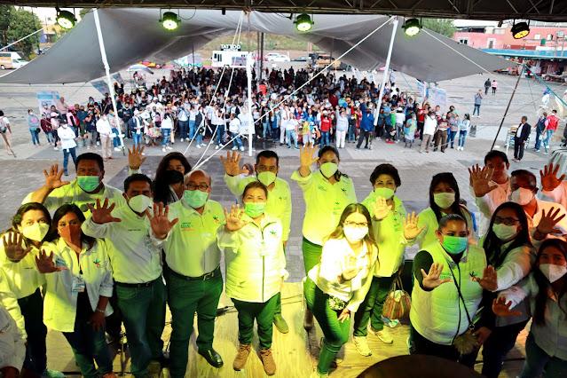 Ana Cristina Ruiz cierra campaña arropada por más de mil Cholultecas