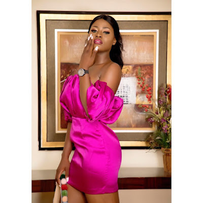 #BBNaija's Alex Asogwa stuns in pink