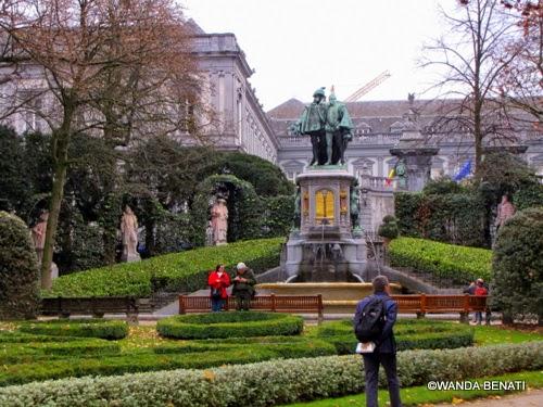 Bruxelles, giardino del Petit Sablon