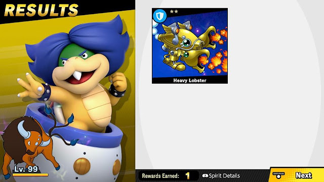 Super Smash Bros. Ultimate Heavy Lobster spirit Ludwig Von Koopa Tauros