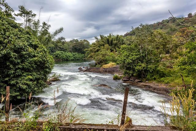 Charpa falls near Athirapally waterfalls
