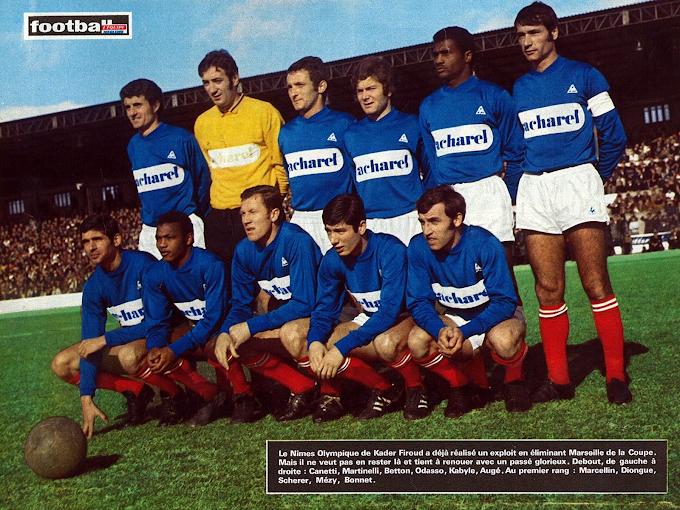 NÎMES OLYMPIQUE 1969-70.