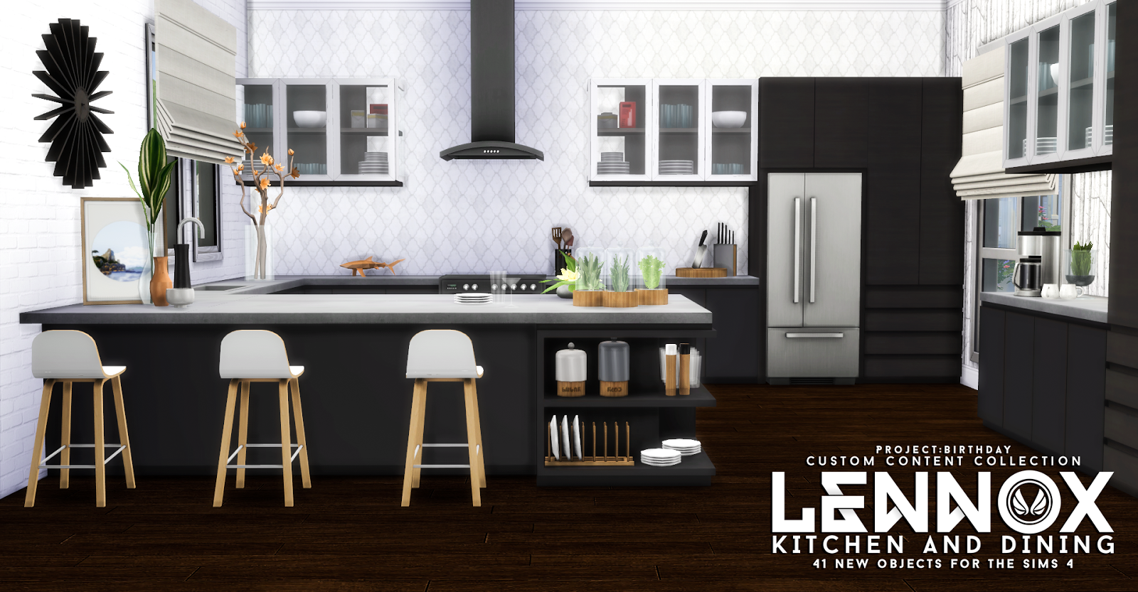 Simsational designs lennox kitchen and dining set for Sims 3 kitchen designs