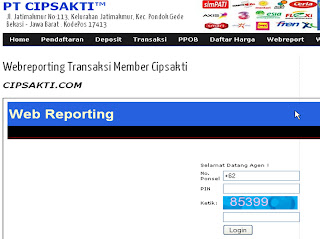 Cara Login Webreport Pulsa Chipsakti reload