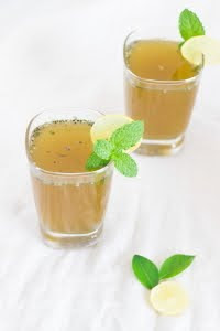 Pudina lemon juice limonana chia basil seeds sabze ka beej