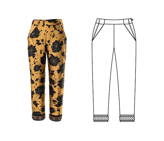 burda 10/2017 pantolon