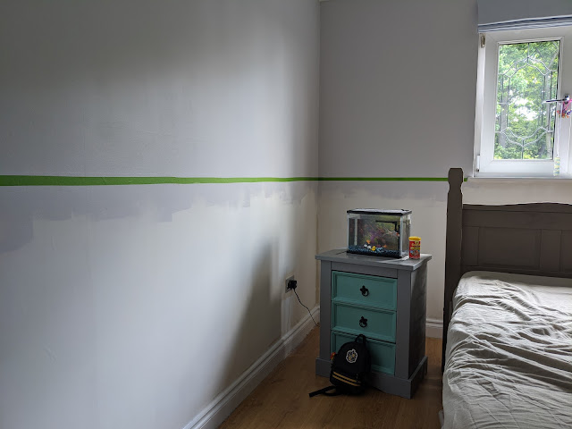 Room taped ready for decorating