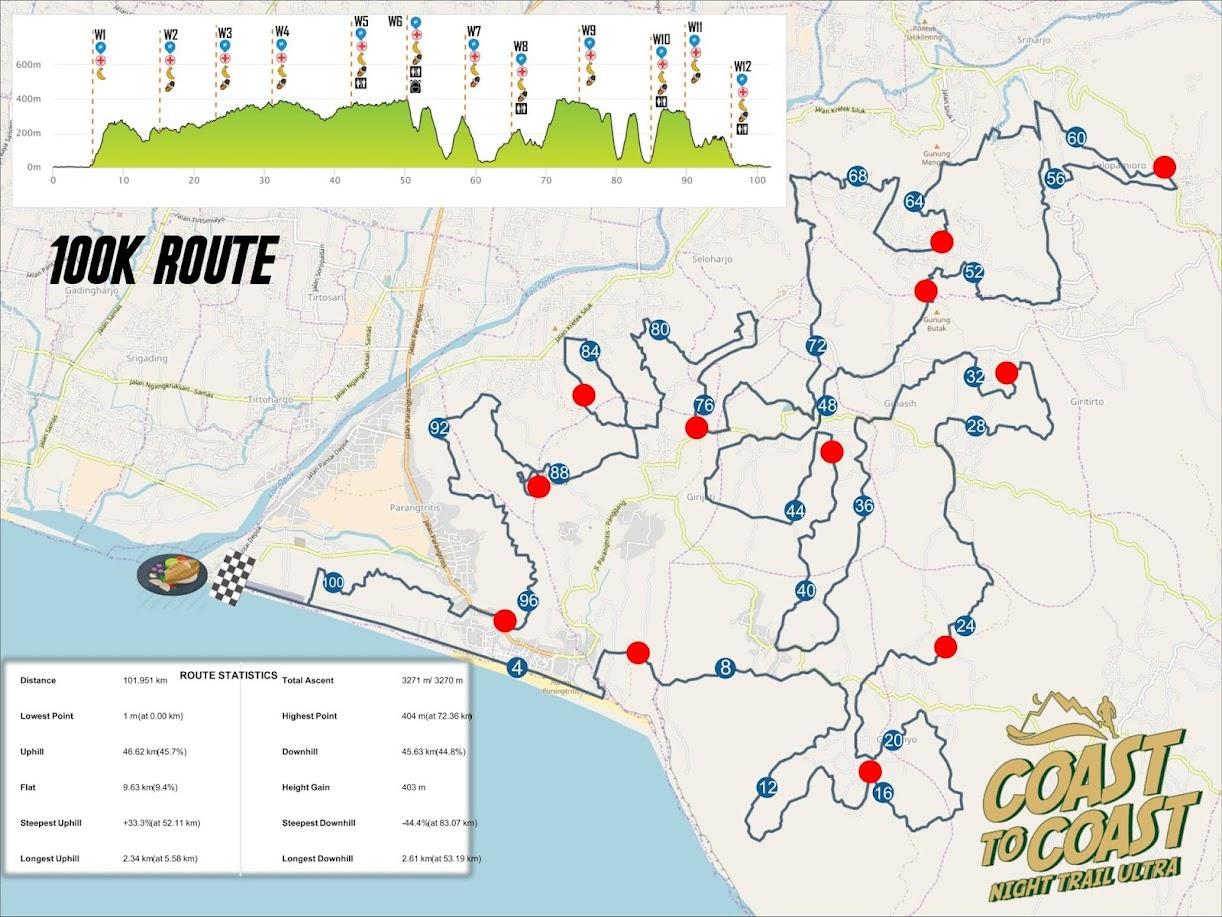 100K - Coast to Coast Night Trail Ultra • 2020