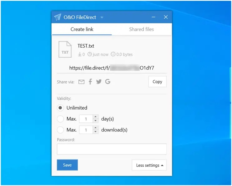 O&O FileDirect  :  Απλός  και ασφαλής τρόπος για να μοιραστείτε τα αρχεία σας