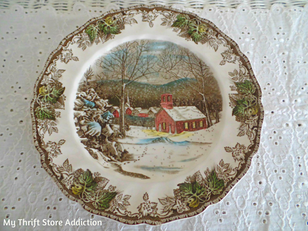 Friday's Find #132 mythriftstoreaddiction.blogspot.com Johnson Brothers Friendly Village Transferware scored at a yard sale!