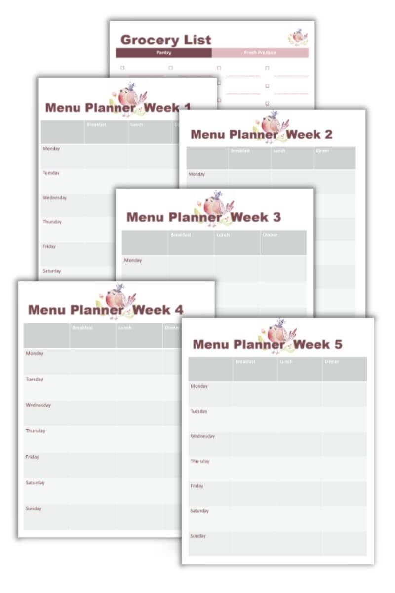 Home Management Binder Printables