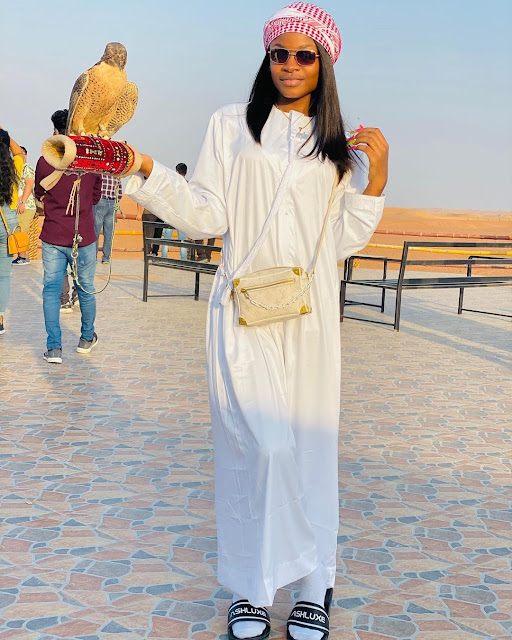 Naira Marley's Sister, Shubomi Is SO BEAUTIFUL! Check Out Her Latest Photos In Dubai