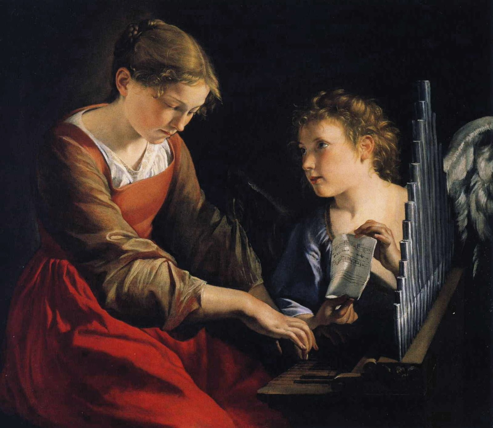 Orazio Gentileschi Saint Cecilia with an Angel