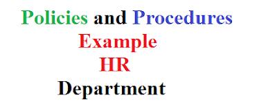 Policies and Procedures Example HR Department