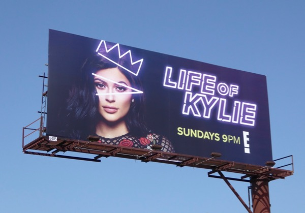 Life of Kylie Jenner series billboard