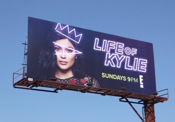 Life of Kylie Jenner series billboard
