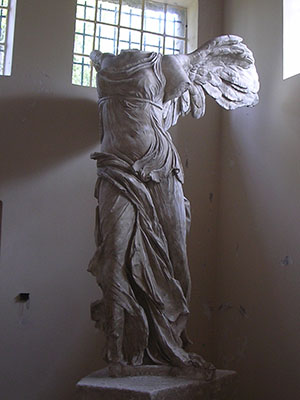 Plaster copy of the  Winged Victory of Samothrace. Paleopolis Museum Samothraki Photo; David John
