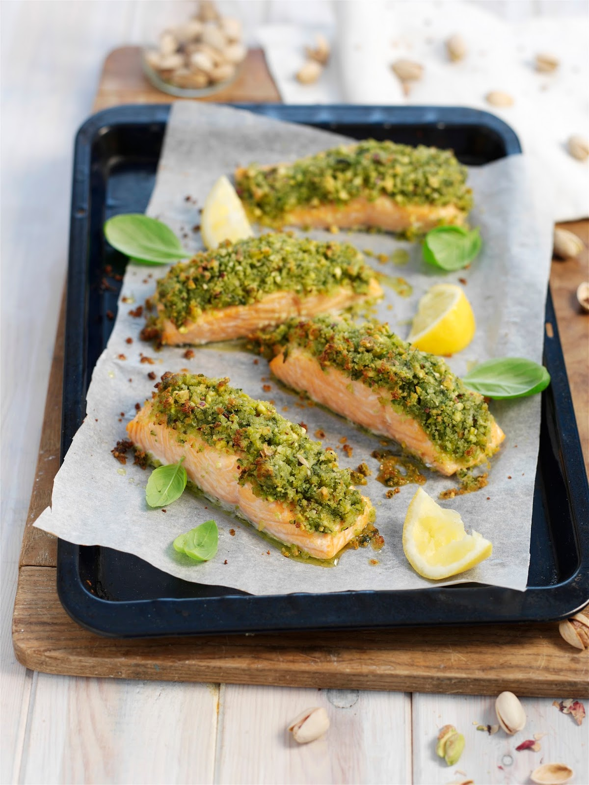 Salmon With A Pistachio And Basil Crust: Meal Prep Ideas