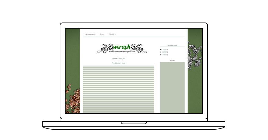 projekt bloga dla Weraph