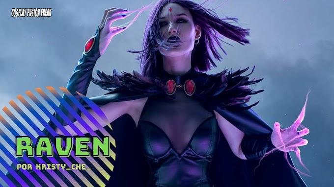 Kristy CHE. con su cosplay de Raven de Titans