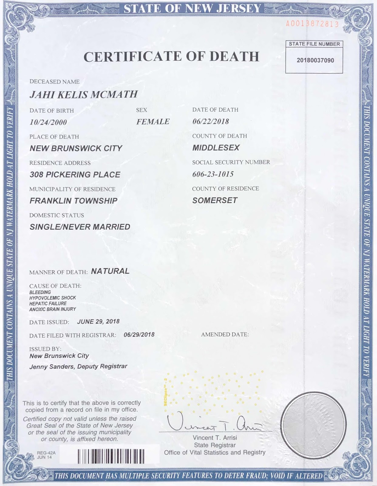 Jahi Mcmath Status Of Her Lawsuits Bioethics Net