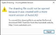 Autocad (DWG) Sürüm Değiştirme
