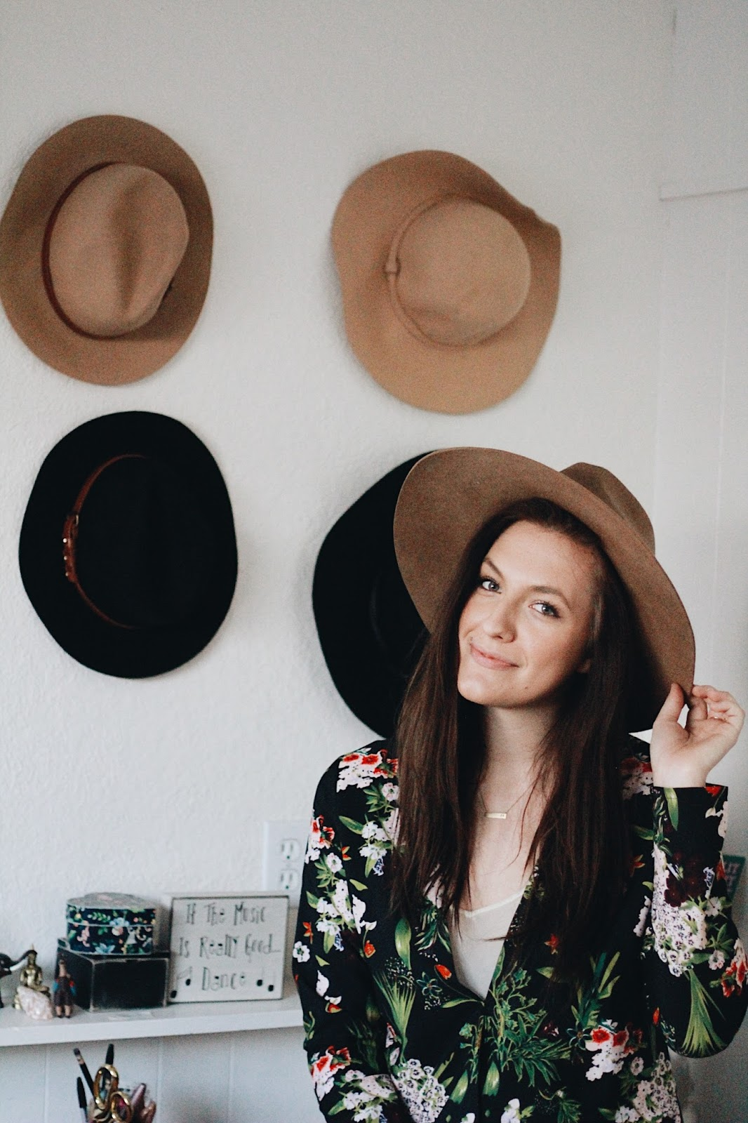 at home hat style outfit
