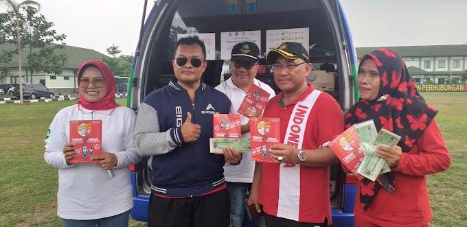 Samling Samsat Depok Layani Peserta Jalan Santai HUT Korpri Ke-48