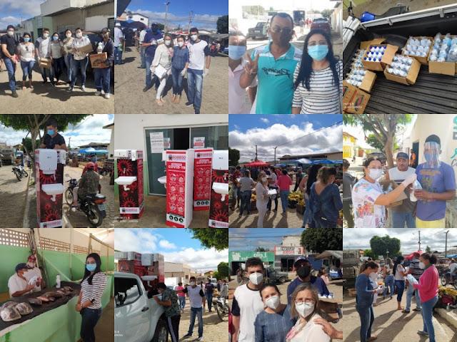 Prefeitura de sossego reabre feira livre (mercado público)