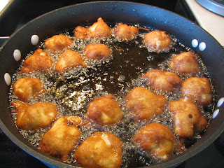 Gluten Free Apple Fritters Fried in Avocado Oil