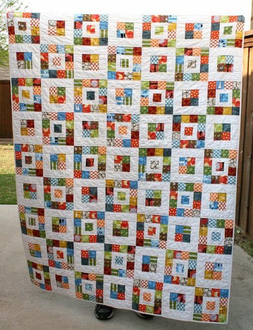 Royal Squares Quilt -  Free Pattern