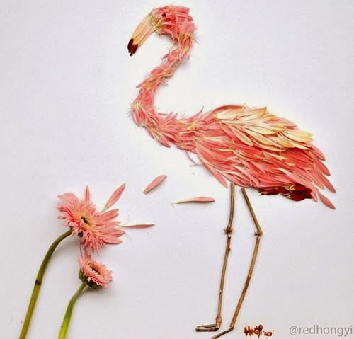 04-Flamingo-Made-With-Pink-Gerberas-&-Twigs-Malaysian-Architect-Hong-Yi-aka-Red-www-designstack-co