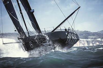 Alex Thomson (Hugo Boss) en tete de la New York - Vendée
