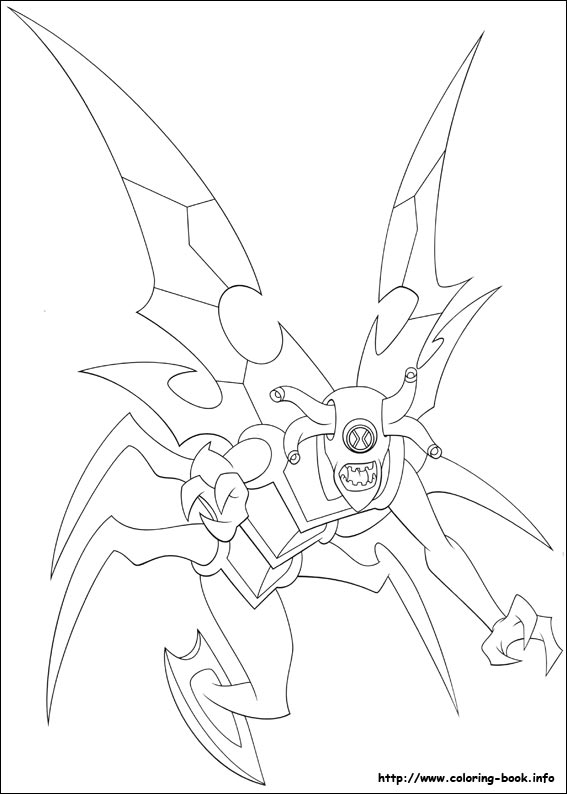 Ben 10 for Ben 10 ultimate alien coloring pages