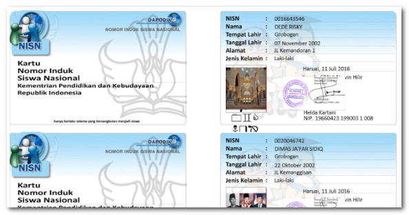 Download Aplikasi Cetak Kartu NISN Gratis Tahun 2017