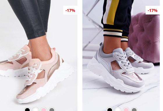 Pantofi sport dama bej , gri moderni cu talpa groasa si comoda