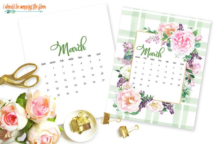 Free March Calendar Printable