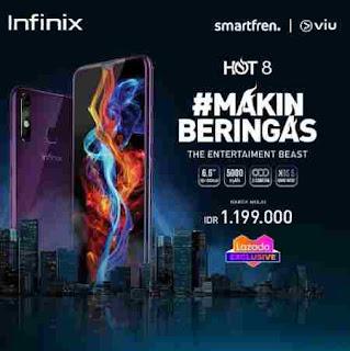Infinix Hot 8 Datang dengan Baterai Jumbo Hingga Gelar Promo Di Lazada