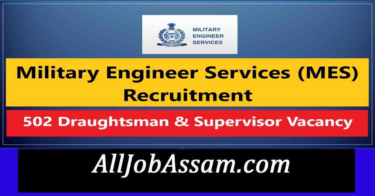 Military Engineer Services (MES) Recruitment 2021