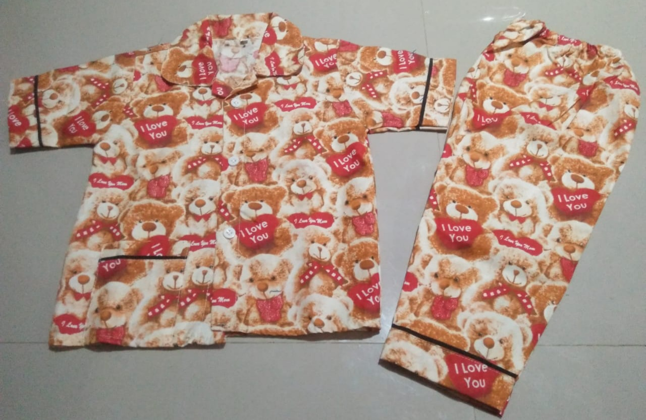 Baju Tidur Anak Umur 2 Tahun Gambar Teddy Bear Coklat