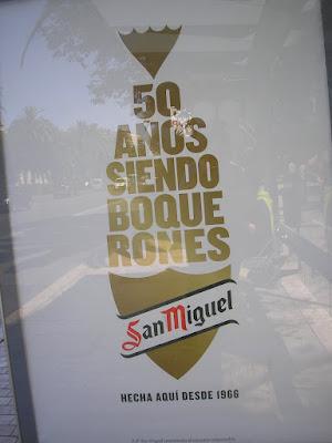 Cartel San Miguel #50añossiendoboquerones