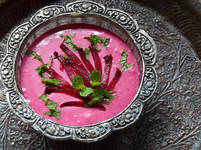 Roasted Beet Raita