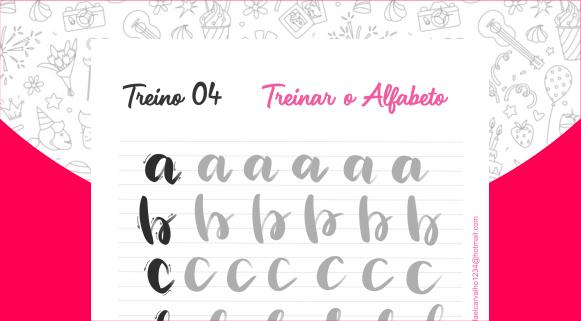 Apostila para treino de Lettering: imprima quantas vezes quiser