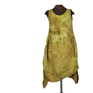 earthenware hand dyed linen dress from secret lentil