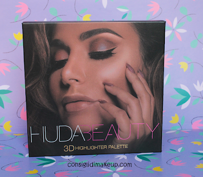 3D Highlighter Palette Huda Beauty Golden Edition