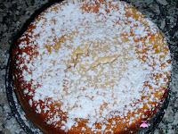 Tarta de limón y condensada con azúcar glass