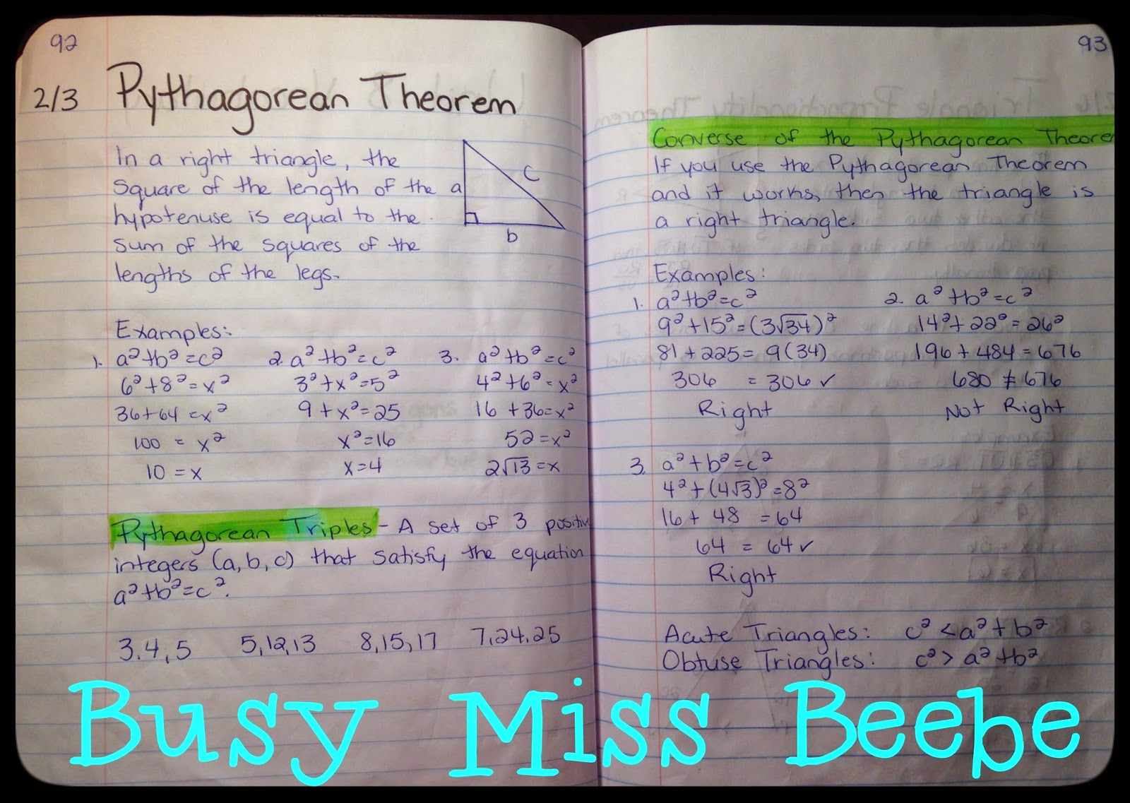 Busy Miss Beebe Geometry Interactive Notebook