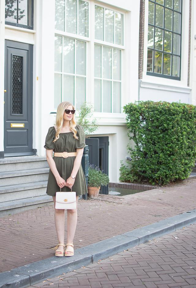 Belted Green Dress